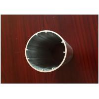 Quality 6063 T5 Round Tube Aluminum Extrusion Profiles Black Electrophoresis Finish for Dia 25MM / 22MM for sale