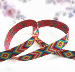 Buy China jacquard woven elastic webbing fabric bands at wholesale prices