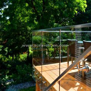 Buy cheap Shenzhen  Ace Frameless Corridor Stainless Steel Standoff Glass Railing from wholesalers