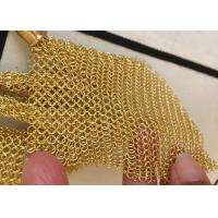 Buy cheap Chainmail Ring Metal Mesh Drapery For Shopping Mall Hotel Decoration Customized from wholesalers