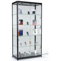 Quality 4 Fixed Shelves Cell Phone Showcase , Trophy Display Cabinets With Glass Doors for sale