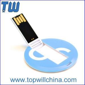 Quality Mini Round Card Plastic Usb Flash Drive 8GB 16GB Data Storage for sale