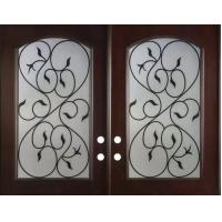 Quality wrought iron glass with 10*10 steel  bar for sale