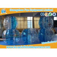 Quality 0.7mm TPU 1.5m Inflatable bumper ball Blue Striped  with  CE / EN14960 / EN71 / SGS for sale