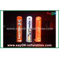 Quality 2m advertising inflatable pillar with LED lighting for decoration for sale