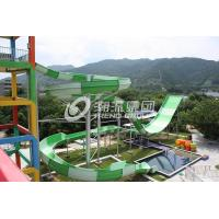 Quality Giant Water Park Equipment Exciting Swwiming Pool Fiberglass Water Slides For Adults in Themed Water Park for sale