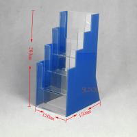 Buy OEM Clear Plasitc Acrylic Brochure Holders Floor Display Stands Trapezoid at wholesale prices