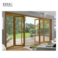 Quality Black Stackable Aluminium Folding Doors Opens Up Patio Spaces Completely for sale