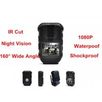 Quality Waterproof 1080P Police Body Mounted Cameras With IR GPS Police DVR 16MP for sale