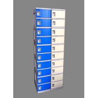 Quality 10 Tier Beige / Yellow Charging Station Lockers 2 Layer Cell Phone Charging Lockers for sale