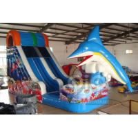 Quality Dolphin jumping inflatable water slide for sale