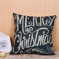 Quality Multi Color Woven Pillow Cushion Covers Merry Christmas Word Printed for sale