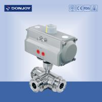 China Sanitary Ball Valve Pneumatic  direct way PTFE Seat , 6 inch ball valves on sale