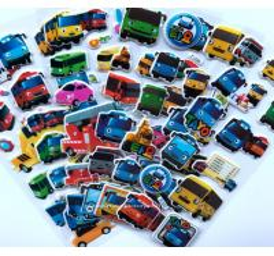 Quality 3D Cartoon Car Stickers Decorative Custom Puffy Stickers , 3D Cartoon Car Foam Stickers for sale