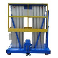 China Double Mast Portable Aerial Work Platform 6m Lifting Height Aluminum Alloy Profile on sale