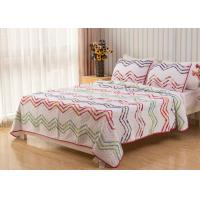 Quality Country Style Wave Embroidered King Size Patchwork Quilts 3pcs 100% Cotton for sale