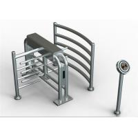 Quality 304 Stainless Steel Security Waist High Turnstiles , Rotating Controlled Access Turnstiles for sale
