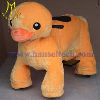 Quality Hansel plush motorized animals coin animal rides for sale