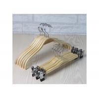 Quality Wooden Laundry Padded Retail Store Hangers , Plywood Material Bulk Coat Hangers for sale