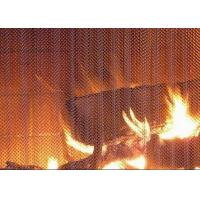 Quality Professional Metal Coil Drapery / Lightweight Mesh Curtain Fireplace Screen for sale