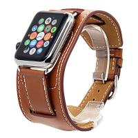 China Apple Watch Band, Genuine Leather Smart Watch band Replacement With Adapter on sale