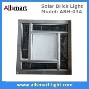"Quality 8""x 8"" inch Square Solar Paver Lights Patio Garden Landscaping Solar Underground Lights Solar Brick Lights for sale"