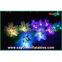 Buy 5m White Long Ground Nylon Cloth LED Flower Chain Inflatable Light Decoration at wholesale prices