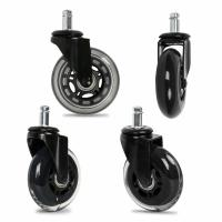Rollerblade Office Chair Casters Threaded Stem / Soft Rubber Chair Casters 3 Inch