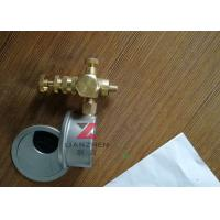 Quality Pressure Gauge Mbar 80mm Bottom With Oil Filled  Pressure Manometer for sale