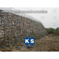 Quality Twisted Hexagonal Hot-Dip Galvanized Gabion Retaining Wall , Plastic Coated Woven Gabion Mattress for sale