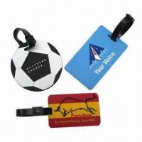 Quality Advertising Luggage/Bag Tag, Made of PVC, Available in Printed/Embossed/Debossed Logo for sale