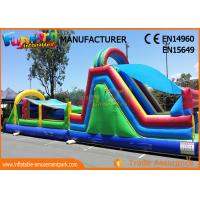 Quality Kids Inflatable Obstacle Course Bounce House Fire Retardant And Water - Proof for sale