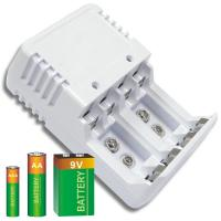 Quality White Ni-Cad / Ni-MH Alkaline Battery Recharger With LED Indicator for sale
