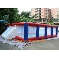 Quality Outdoor 0.45mm PVC Plato Tarpaulin Inflatable Football Pitch / Blow Up Soccer Field for sale