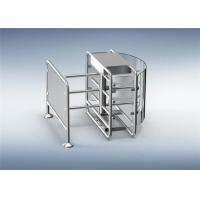 Quality 316 Stainless Steel Speedgate Turnstile Half Height Revolving Door With Railing for sale