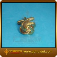 Quality brass custom logo cufflinks for sale