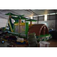 Quality Simple Inflatable Palm Trees Obstacle Courses 0.55mm PVC Blow Up Obstacle Courses For Children for sale