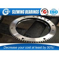 China Small Assembly Gap Excavator Turntable Bearing Outer Gear Heat Treatment on sale