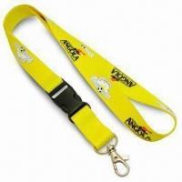 Quality 2cm Wide Popular Promotional Lanyard with Nickel-plated Metal Snap Hook, Made of Polyester for sale
