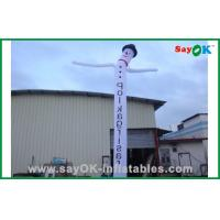 Quality Customized Advertising Snowman Inflatable Air Dancer / Waving Man For Festival for sale