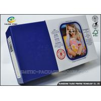 Quality Promotional Electronics Packaging Boxes Blue Paperboard Customized Sizes for sale