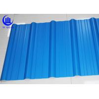 Quality Excellent Corrosion Resistanc PVC Blue Corrugated Plastic Roofing Sheets 1130mm for sale