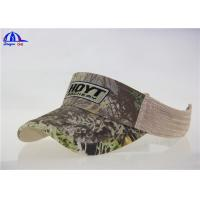 Quality Camo / Khaki 100% Cotton Sun Visor Hats , Sunvisor Baseball Cap Wholesale for sale