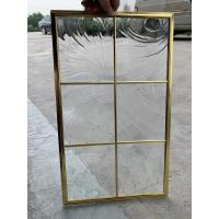Quality No welding single decorative glass panel inserts  for cabinet door 1MM edge thikcness with brass caming for sale