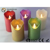 Quality Double Light Moving Flame Led Candles For Home Decoration 15.5 / 17.8cm for sale