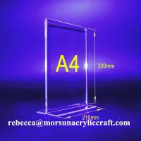 Quality Wholesale High Transparent A4 Acrylic Menu Holder for sale