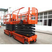 Quality Motion Alarm Self Propelled Electric Scissor Lift Self Propelled Single Man Lift for sale