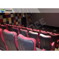 Quality Red / Black 4D Movie Theater , 4D Motion Seat Is Main Technology For Cinema Hall for sale