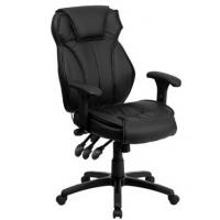Quality High Back Black Leather China Office Chair for sale