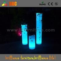 Quality 100-240V Led Light Plant Flower Pots For Nightclub / Disco , 30 × 30 × 70 Cm Size for sale